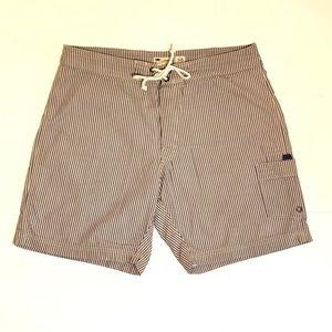 Men's Seersucker Board Shorts Size 36X9